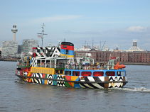 Mersey Ferry in WWI Dazzle Livery