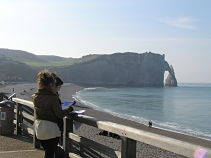 Students at Etretat