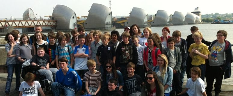 Group at Thames Flood Barrier