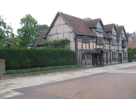 Exterior View of Shakespeares Birthplace