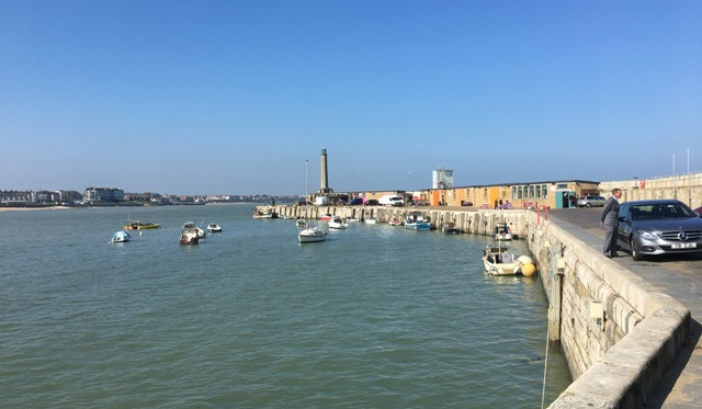 Margate Harbour with reinforced stone pier 640x373