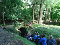 Students at Hooge Trenches