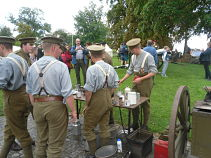 British Re-enactors in WWI Uniforms - Ypres Battlefield Tours