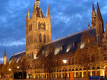 Ypres Cloth Hall at night - Ypres Battlefield Tours