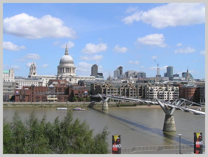 Thames and St Pauls Cathedral
