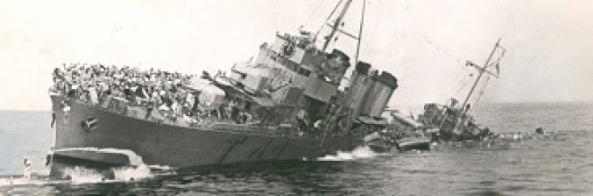 British Destroyer Sinking