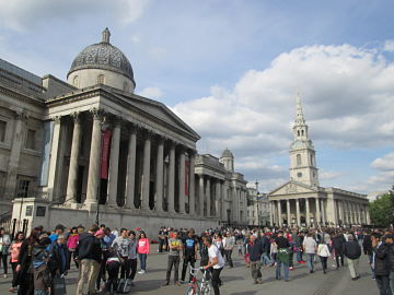 National Gallery and St Martins in the Fields