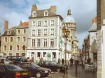 Boulogne Old Town near Town Hall