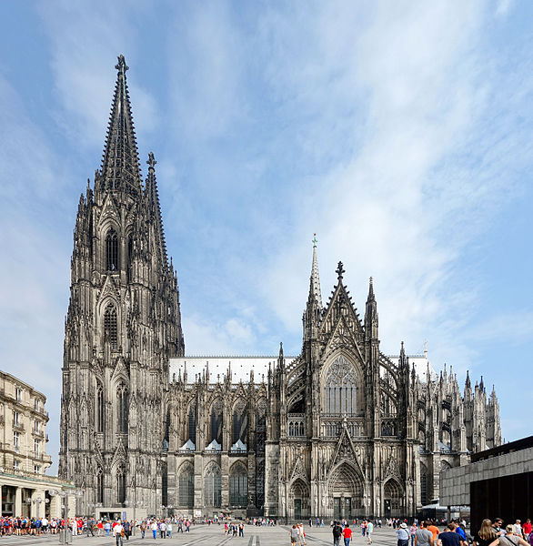 Cologne cathedrale vue sud
