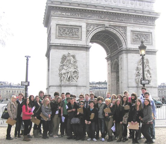 Group at Arc de Triomphe