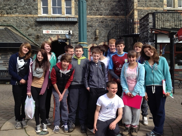 Students Betws y Coed Snowdonia National Park Geography trip