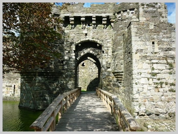 Machicolation at Beaumaris Castle
