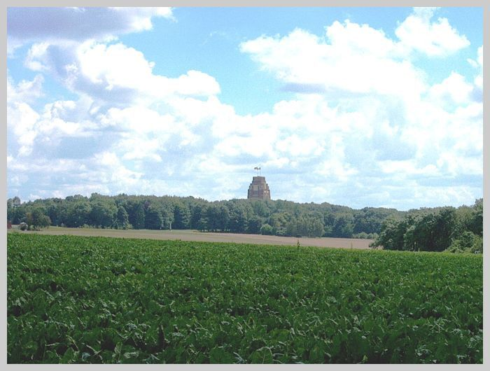 A distant view of Thiepval and the Ancre Heights